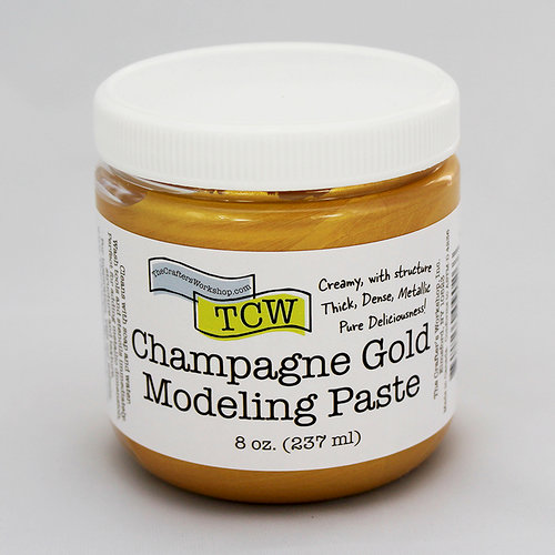 The Crafter's Workshop - Modeling Paste - Champagne Gold - 8 Ounces
