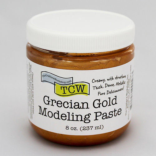 The Crafter's Workshop - Modeling Paste - Grecian Gold - 8 Ounces