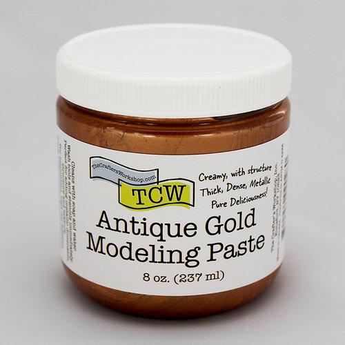 The Crafter's Workshop - Modeling Paste - Antique Gold - 8 Ounces