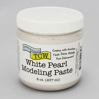 The Crafter's Workshop - Modeling Paste - White Pearl - 8 Ounces