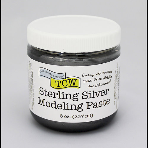 The Crafter's Workshop - Modeling Paste - Sterling Silver - 8 Ounces