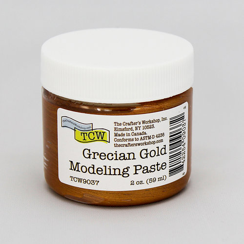 The Crafter's Workshop - Modeling Paste - Grecian Gold - 2 Ounces