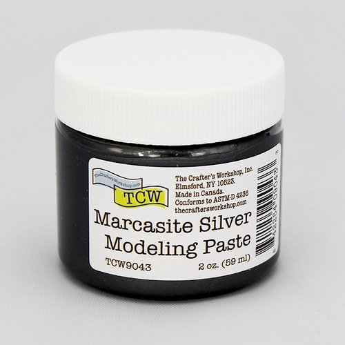 The Crafter's Workshop - Modeling Paste - Marcasite Silver - 2 Ounces