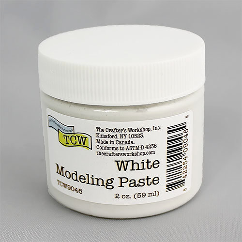 The Crafters Workshop - Modeling Paste - White - 2 Ounces