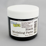 The Crafters Workshop - Modeling Paste - Black - 2 Ounces