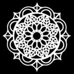 The Crafter's Workshop - 12 x 12 Stencil - Leaf Emblem