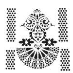 The Crafter's Workshop - 12 x 12 Stencil - Quadrangle Fan