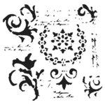 The Crafter's Workshop - 12 x 12 Stencil - Vintage Scrolls