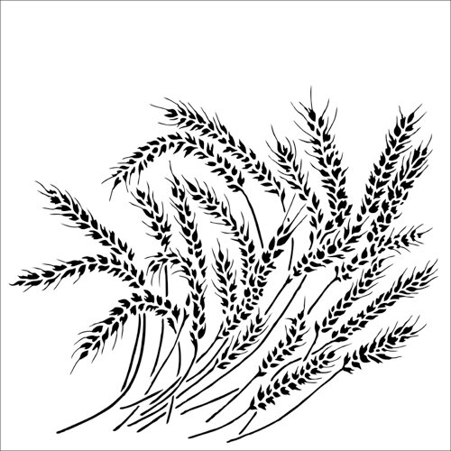 The Crafter's Workshop - 6 x 6 Stencil - Wheat Stalks