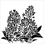 The Crafter's Workshop - 12 x 12 Stencil - Lilacs