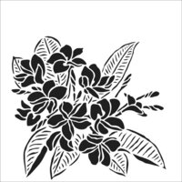 The Crafter's Workshop - 6 x 6 Stencil - Plumeria