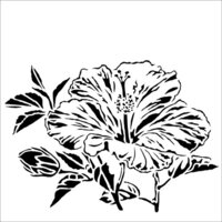 The Crafter's Workshop - 12 x 12 Stencil - Hibiscus