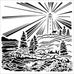 The Crafter's Workshop - 12 x 12 Stencil - Lighthouse