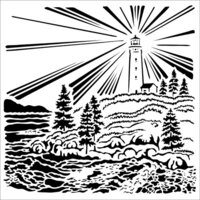 The Crafter's Workshop - 6 x 6 Stencil - Lighthouse