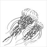 The Crafter's Workshop - 12 x 12 Stencil - Jellyfish