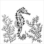 The Crafter's Workshop - 12 x 12 Stencil - Seahorse
