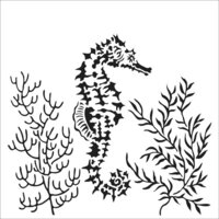 The Crafter's Workshop - 6 x 6 Stencil - Seahorse