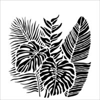 The Crafter's Workshop - 12 x 12 Stencil - Tropical Fronds
