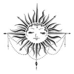The Crafter's Workshop - 12 x 12 Stencil - Celestial Sun