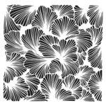 The Crafter's Workshop - 6 x 6 Stencil - Lush Petals
