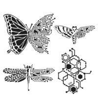 The Crafter's Workshop - 6 x 6 Stencil - Nature's Circuitry
