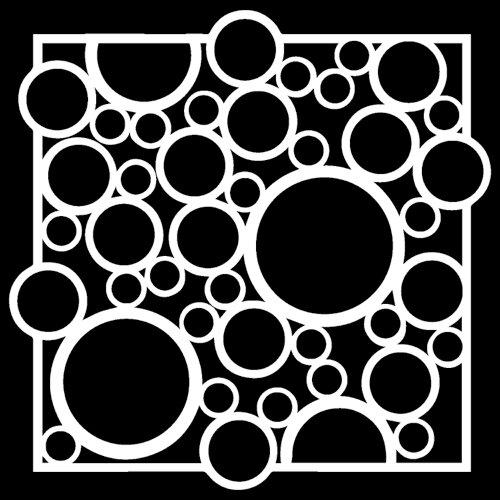 The Crafter's Workshop - 6 x 6 Stencil - Bubble Rebound