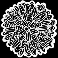 The Crafter's Workshop - 12 x 12 Stencils - Cactus Dahlia