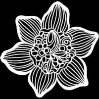 The Crafter's Workshop - 12 x 12 Stencils - Cupped Daffodil