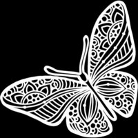 The Crafter's Workshop - 12 x 12 Stencils - Joyous Butterfly