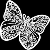 The Crafter's Workshop - 12 x 12 Stencils - Sunny Butterfly