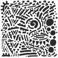 The Crafter's Workshop - 12 x 12 Stencils - Mystical Doodles