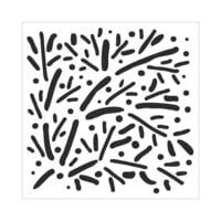 The Crafter's Workshop - 6 x 6 Stencils - Scattered Branches
