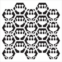 The Crafter's Workshop - 12 x 12 Stencils - Tulip Hexagons