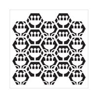 The Crafter's Workshop - 6 x 6 Stencils - Tulip Hexagons
