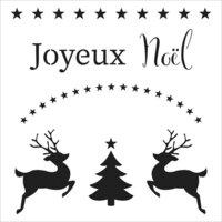 The Crafter's Workshop - 12 x 12 Stencils - Joyeux Noel