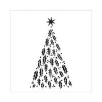The Crafter's Workshop - 6 x 6 Stencils - Happy Holly Tree