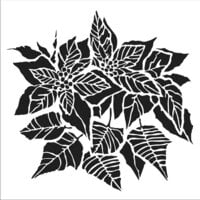 The Crafter's Workshop - 12 x 12 Stencils - Poinsettia