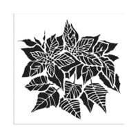 The Crafter's Workshop - 6 x 6 Stencils - Poinsettia