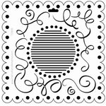 The Crafter's Workshop - 12 x 12 Doodling Templates - Scallop Swirls