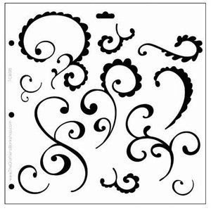 the crafter s workshop 12x12 doodling templates funky swirl