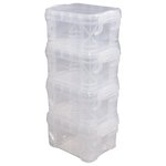 Storage Studios - Super Stacker Pixie Box - Clear - 4 Pack