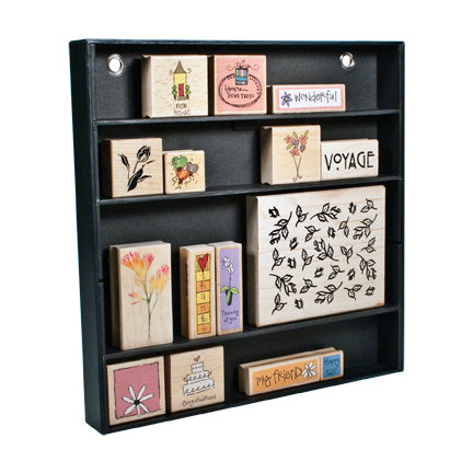 Advantus - Cropper Hopper - Stamp Shelf - Stamp Organization - Black