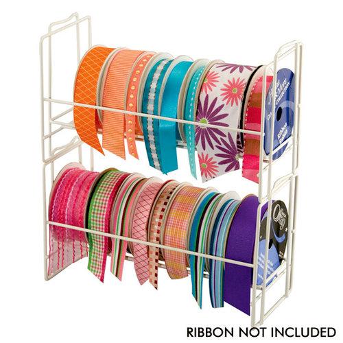 Cropper Hopper - Table Top Stacking Ribbon Rack - White