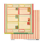 Cosmo Cricket - TV Dinner Collection - 12 x 12 Double Sided Paper - Recipe Box