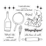 Cosmo Cricket - TV Dinner Collection - Cling Mounted Rubber Stamps
