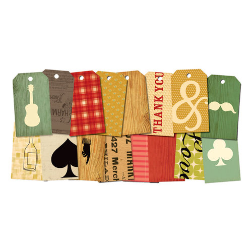 Cosmo Cricket - Honky Tonk and TV Dinner Collections - Element Tags
