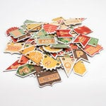Cosmo Cricket - Honky Tonk and TV Dinner Collections - Chipboard Alphas