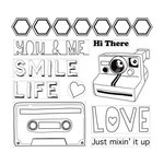 Cosmo Cricket - Sweet Disposition Collection - Cling Mounted Rubber Stamps