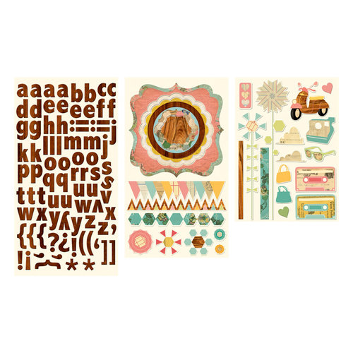 Cosmo Cricket - Sweet Disposition Collection - Stickers