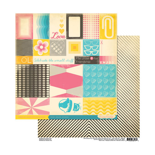 Cosmo Cricket - Summer Love Collection - 12 x 12 Double Sided Paper - Crush